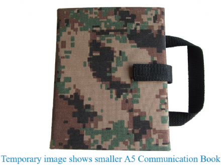 A4 Communication Book - Rigid Covers - Digital Camouflage